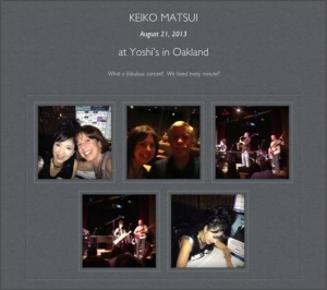 Evening at Yoshi's Jazz Club
