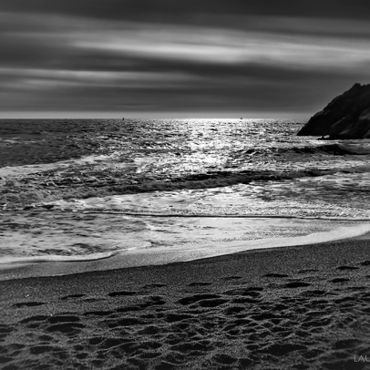 Rodeo Beach Black and White