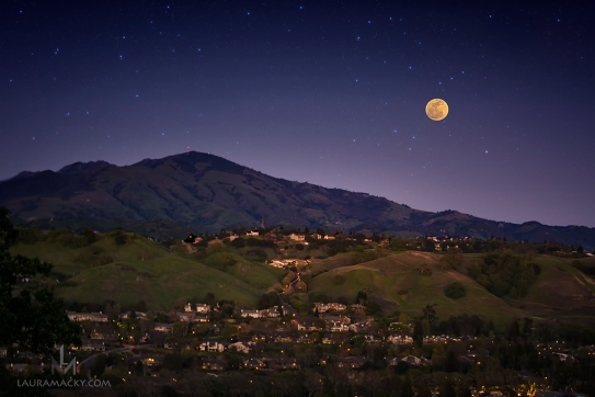 Waxing Gibbous over Mt. Diablo