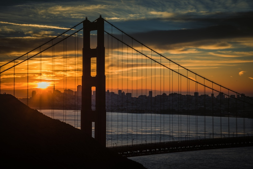 Sunrise Through the Gate