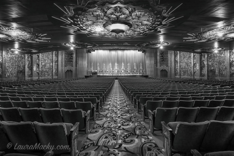 Paramount Theater in Black and White