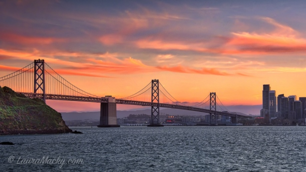 Western Span of the San Francisco-Oakland Bay Bridge from Treasure Island