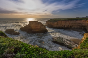 Shark Fin Cove at Sunset