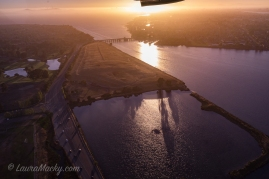 Oakland-Alameda Estuary toward Bay