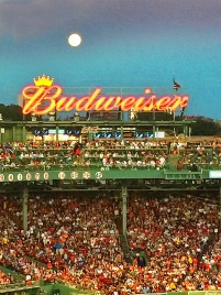 Moon Rising Over Fenway